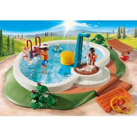 Playmobil diversion en familia piscina-9422Ref:MGS0000000291
