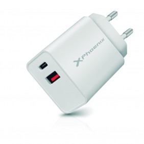 Cargador dual movil smartphone phoenix 20w - PHCHARGER20WDUAL- Ref: MGS0000002838