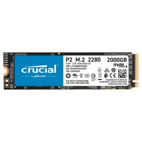 Ssd crucial p2 2tb m2 - CT2000P2SSD8- Ref: DSP0000003555