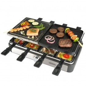 Plancha asar bourgini gourmette raclette grill - 23161108- Ref: MGS0000005957